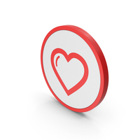 Icon Heart Red PNG & PSD Images