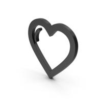 Symbol Heart Black PNG & PSD Images