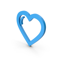 Symbol Heart Blue PNG & PSD Images
