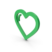 Symbol Heart Green PNG & PSD Images