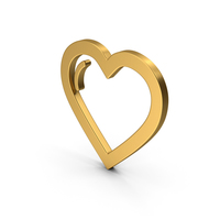 Symbol Heart Gold PNG & PSD Images