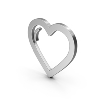 Symbol Heart Silver PNG & PSD Images