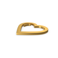 Gold Symbol Heart PNG & PSD Images