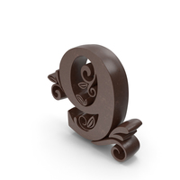 Chocolate Candle Number 9 PNG & PSD Images