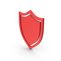 Symbol Shield Red PNG & PSD Images