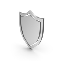 Symbol Shield Silver PNG & PSD Images