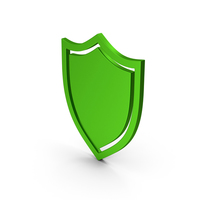 Shield Green Metallic PNG & PSD Images