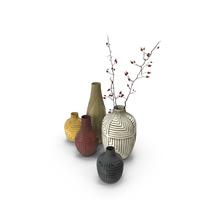West Elm Linework Vases PNG & PSD Images