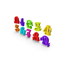 Multi Color Numbers PNG & PSD Images