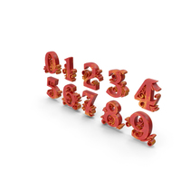 Red Yellow Numbers PNG & PSD Images