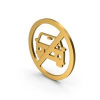 Symbol No Car Gold PNG & PSD Images