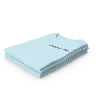 Female Crew Neck Folded Stacked Blue Housekeeping PNG & PSD Images