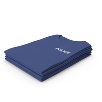Female Crew Neck Folded Stacked Dark Blue Police PNG & PSD Images