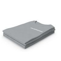 Female Crew Neck Folded Stacked Gray Housekeeping PNG & PSD Images