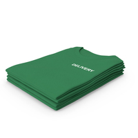 Female Crew Neck Folded Stacked Green Delivery PNG & PSD Images