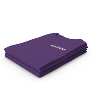 Female Crew Neck Folded Stacked Purple Delivery PNG & PSD Images