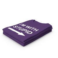 Female Crew Neck Folded Stacked Purple Im With Stupid PNG & PSD Images