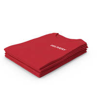 Female Crew Neck Folded Stacked Red Delivery PNG & PSD Images