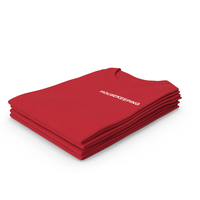 Female Crew Neck Folded Stacked Red Housekeeping PNG & PSD Images
