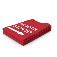 Female Crew Neck Folded Stacked Red Im With Stupid PNG & PSD Images