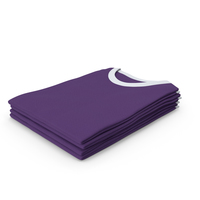 Female Crew Neck Folded Stacked White and Purple PNG & PSD Images