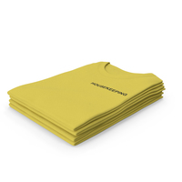 Female Crew Neck Folded Stacked Yellow Housekeeping PNG & PSD Images