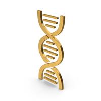 Symbol DNA Gold PNG & PSD Images
