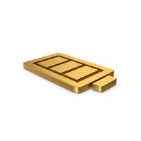 Gold Symbol Battery PNG & PSD Images