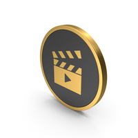 Gold Icon Movie PNG & PSD Images