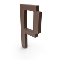 P Letter Brown PNG & PSD Images