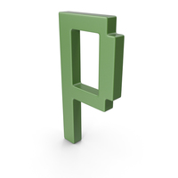 P Letter Green PNG & PSD Images