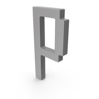 P Letter Grey PNG & PSD Images