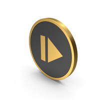 Gold Icon Resume Button PNG & PSD Images
