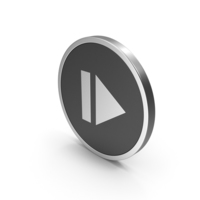 Silver Icon Resume Button PNG & PSD Images