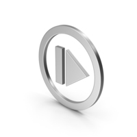 Symbol Resume Button Silver PNG & PSD Images