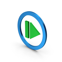Resume Button Green Blue Metallic PNG & PSD Images