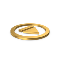 Gold Symbol Resume Button PNG & PSD Images
