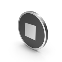 Silver Icon Stop Button PNG & PSD Images