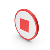 Icon Stop Button Red PNG & PSD Images