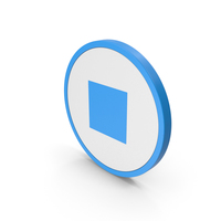 Icon Stop Button Blue PNG & PSD Images