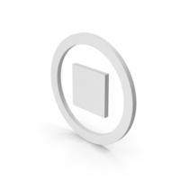 Symbol Stop Button PNG & PSD Images