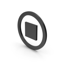 Symbol Stop Button Black PNG & PSD Images