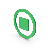 Symbol Stop Button Green PNG & PSD Images