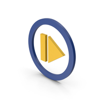 Symbol Resume Button Yellow PNG & PSD Images