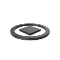 Black Symbol Stop Button PNG & PSD Images