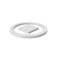 Stop Button Symbol PNG & PSD Images