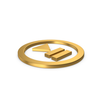 Gold Symbol Play Pause Button PNG & PSD Images