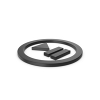Black Symbol Play Pause Button PNG & PSD Images