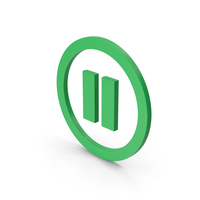 Symbol Pause Button Green PNG & PSD Images