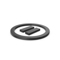 Black Symbol Pause Button PNG & PSD Images